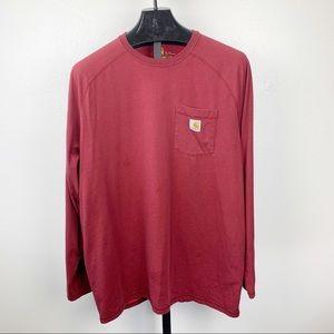 Carhartt Force Cotton Delmont Long Sleeve T Shirt